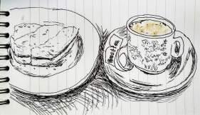 Kopi (Malay for coffee) and toast